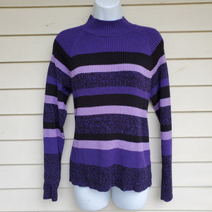 Studio Works Purple, Plum, Lavender, Black Sweater